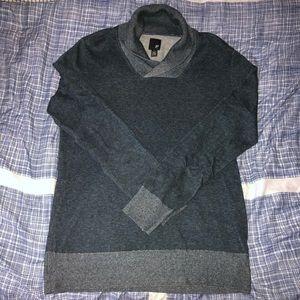 Men's Blue J. Ferrar Shawl Collar Sweater Size M